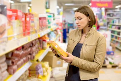 Einkauf Supermarkt Zutatenliste check