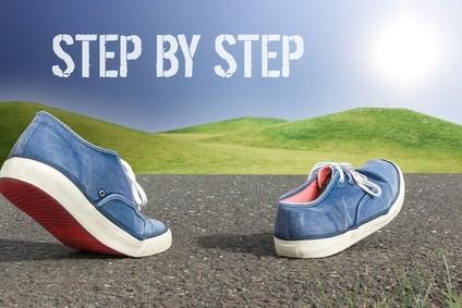 Schritt für Schritt, lieber kleine Veränderung nachhaltig